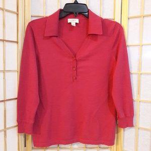 Ann Taylor LOFT Coral Pullover Sweater Sz M